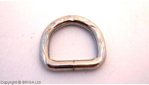 D Rings nickel - 13mm/emboss/10pc