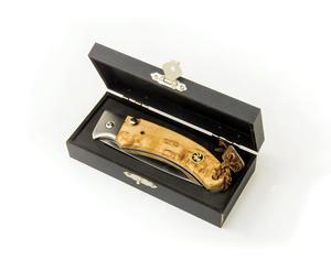 """Karesuando - """"Singi"""" pocket knife 8 cm - brown"""