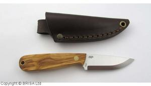 Enzo Necker 70 knife/Leather /Olive
