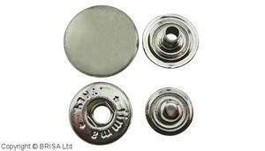 Snap 15 mm Nickel/10 pcs