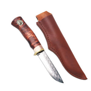 Karesuando Knife - Beaver - 10 cm Damascus Rose