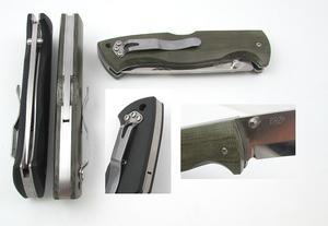 Enzo Borka 90 folding knife N690 Sc/Micarta