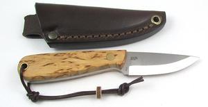Enzo Necker 70 knife/Curly Birch