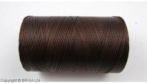 Brown waxed thread. 500 m